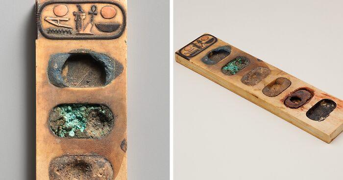 لوحة ألوان من مصر الفرعونية كان يستخدمها الفراعنة للرسم قبل 3400