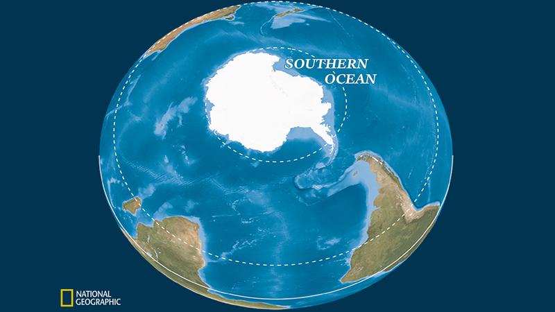 """المحيط الخامس """" لوبوان """" لأول مرة على خريطة العالم"""