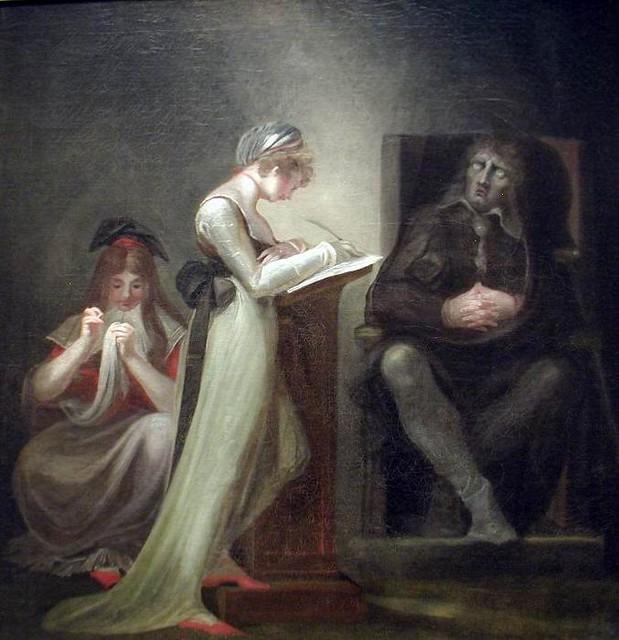 Blind Milton  Henry Fuseli من هو هنري فوسيلي أعمال فوسيلي Lady Macbeth Seizing the Daggers The Nightmare