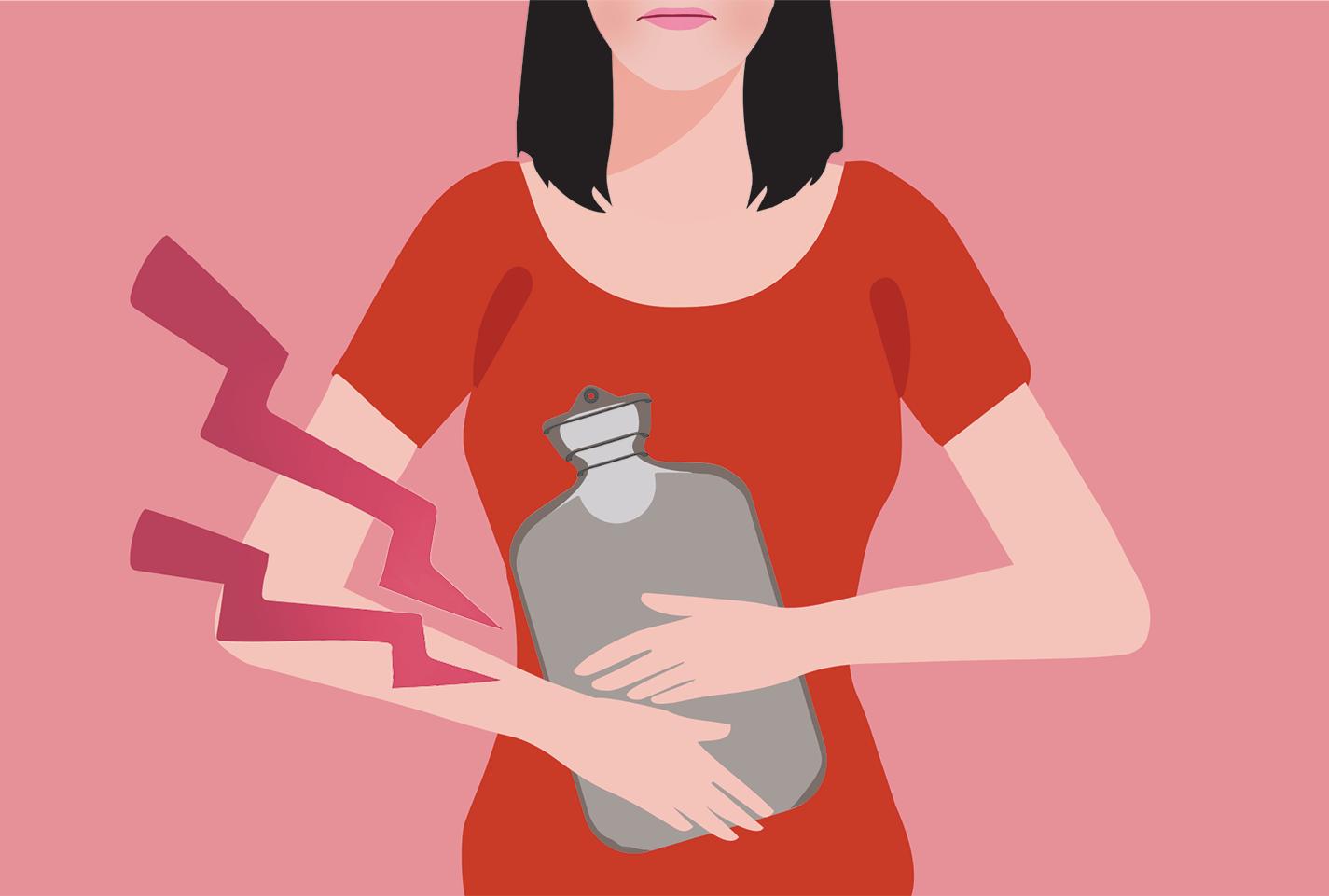 عدم انتظام الدورة الشهرية سوء التغذية أو الاكتئاب أو الاضطرابات الهرمونية أو متلازمة المبيض متعدد الكيسات وظيفة الغدة الدرقية